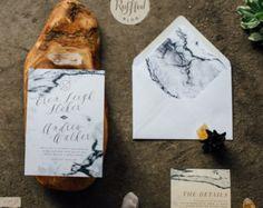 JENN SUITE // Botanical Wedding Invitation от CitrusPressCo