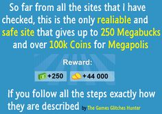 How to get Cash and Coins in Megapolis and how to find glitches on Megapolis >>JUST CLICK ON THE IMAGE TO SEE THE PAGE<<   #MegapolisCash   #MegapolisCoins    #MegapolisTricks    #MegapolisHack  #MegapolisCheat  #MegapolisTrick