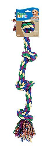 Dog Life 4Knot Rope Dog Toy MultiColor  Large 29 Inch * Learn more by visiting the image link.