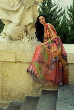 Anca Oniga Floral Print Dress