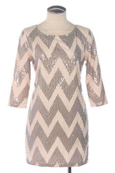 Sequin chevron dress
