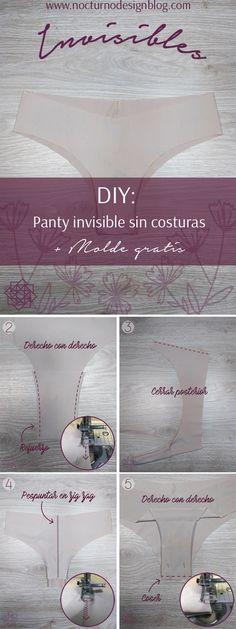 DIY: Panty invisible en 10 minutos + molde gratis – Nocturno Design Blog Design Blog, Sewing Clothes, Diy, Place Card Holders, Inspiration, Random, Bikinis, Dress, Sewing Patterns Free