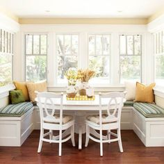 This is exctly what I want in my breakfast nook. We wouldnt need go change that myuch. Close off the doors and make windows... What do you think Charlie?