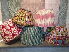 Custom Ikat Lampshades by Robert Kime UK
