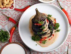 Indonesian Eggplant with Peanut Sauce (Petjel Terong)