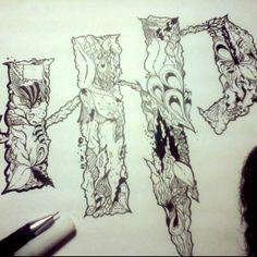 Psychedelic Typograph Harry Potter by sendyhamzah #design #doodle