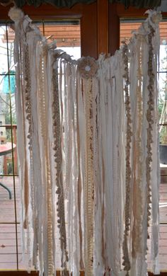 Ivory Lace Wedding Garland Shabby Chic Over 3 1/2 feet by Kakodah, $75.00