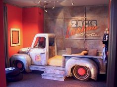 Landen would love this...especially if the truck was designed to look like a Rat Rod!