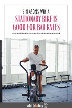 So, before we get to the reasons why a stationary bike is good for bad knees, let's get the whole picture of what's going on. Aching Knees, Fitness Tips, Fitness Motivation, Bad Knees, Workout Guide, At Home Workouts, Stationary, Weight Loss, Exercise