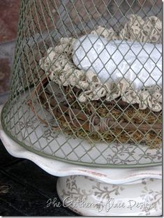 Dollar Store DIY • Tutorials and ideas, including this dollar store wire cloche by 'The Gathering Place'!