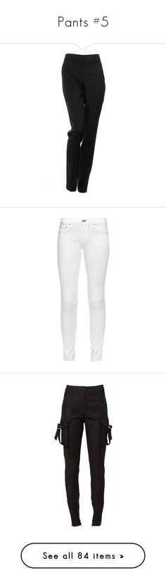 """Pants #5"" by maarij ❤ liked on Polyvore featuring pants, bottoms, trousers, black, wool pants, zipper trousers, tapered trousers, straight pants, zipper pants and jeans"