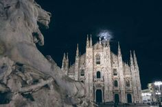 The Duomo and the moon