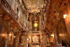 Asam Church in Munich, Germany (Rococo style)