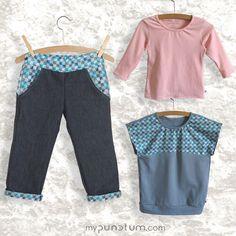 Extrem strapazierfähige BIO - Jeans trifft auf super bequeme BIO - Oberteile! Besucht uns auf www.mypunctum.com und findet eure Lieblingskombinationen...Viel Spaß! Baby Kind, Rompers, Jeans, Dresses, Fashion, Fall Winter, Tops, Kleding, Vestidos