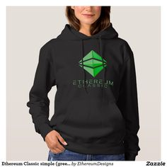 Ethereum Classic simple (green) Women's Hoodie designed by András Balogh