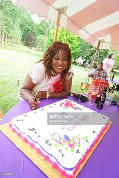 Martha Reeves poses at her surprise 75th private birthday party on July 24, 2016 in Armada, Michigan.