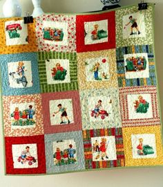 Dick, Jane, and Sally on a quilt. What more could a budding reader want?