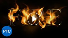 WATCH NOW: Photoshop tutorial showing you how to create a fire text effect.
