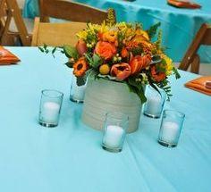 Azul - Centro de Mesa - Table Centers - Wedding