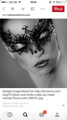 Love this to wear with a black/white dress for the wedding Black Masquerade Mask, Masquerade Wedding, Dress Attire, Summer Collection, Editorial Fashion, Halloween Costumes, Halloween Face Makeup, Photoshoot, Black And White