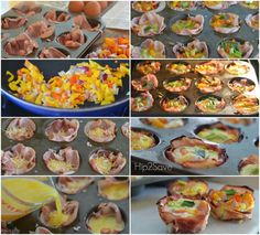 How to Make Easy Ham & Eggs in Muffin Tins Hip2Save.com