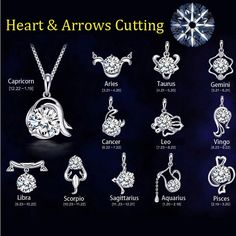 12 Takımyıldızı gümüş kaplama Kolye Kolye kadın Düğün takı Kalp & Arrows Kesme Kristal Kolye Kolye