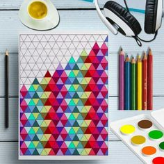 Printable Triangles Coloring Page, Triangles Shape Prints, Geometric Coloring Sheet Digital, Adult Color Patterns, Doodle Coloring For Adult Printable Triangles Geometric Coloring Pages, Heart Coloring Pages, Butterfly Coloring Page, Printable Coloring Pages, Pattern Coloring Pages, Doodle Coloring, Coloring Sheets, Adult Coloring, Mandala Coloring