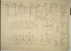Elevations and details, boy's dormitory