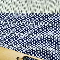 This time in navy #weaving #weaversofinstagram #handmade #fiberart #textileart #etsyseller #navy #wip