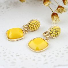 [Min. 6$]Ear Cuff Clip Earrings Without Piercing Brincos Pequenos Imitation Gemstone Jewelry Fashion Deisgner Brincos Women E217