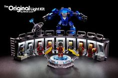 Lego Iron Man, Titanic Ship, Lego Kits, Man Gear, Bouncy House, Paris Architecture, Led Light Kits, Lego Building, Custom Lighting