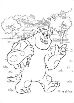 Coloring Page Monsters University