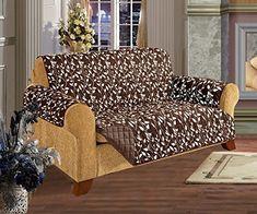 Quilted Pet Dog Children Kids Furniture Protector Slip Cover Leaf Design Chocolate Sofa * Visit the image link more details.