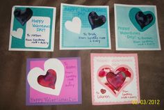 My heart shaped melted crayon Valentines