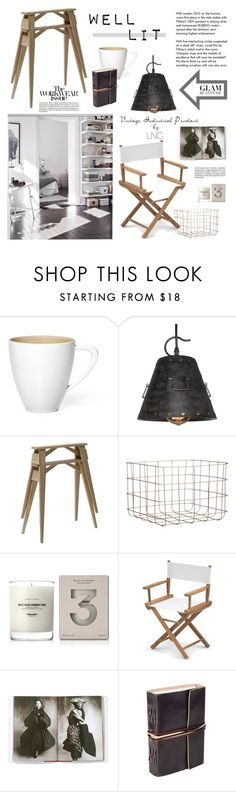 """""""The Vintage Industrial Pendant by LNC"""" by barngirl ❤ liked on Polyvore featuring interior, interiors, interior design, home, home decor, interior decorating, Narciso Rodriguez, Design House Stockholm, CB2 and Baxter of California"""