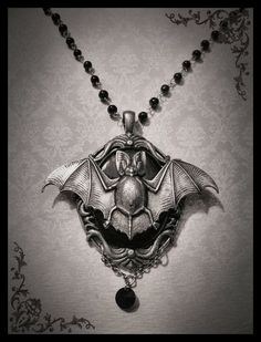 Gothic Necklace Goth Bat Cameo Neo-Victorian Romantic Antique Silver and Black Cameo with Silver Jewelery Gothic Accessories, Jewelry Accessories, Fashion Accessories, Jewelry Design, Women Jewelry, Jewelry Ideas, Fashion Clothes, Goth Jewelry, Jewelry Necklaces