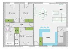 """Bonjour, j'ai besoin de votre aide car j'ai depose mon permis de construire qui a ete accepte au mois de juillet. je ne peux plus modifier les facades de la maison, mais l'interieur. ... (Page 2 - Forum """"Plans de maisons"""") Modified Cars, Deco, Architect Design, House Floor Plans, Facades, In The Heights, Construction, House Design, How To Plan"""