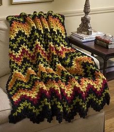 Vintage V-Stitch Ripple Afghan - Free Pattern from Leisure Arts