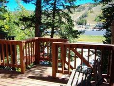 Brian Head, UT: Sleeping up to 6 you'll want to spend all your time on the deck enjoying the view! Sleeping up to 6 in a master bedroom with a king, a nook with twin ...