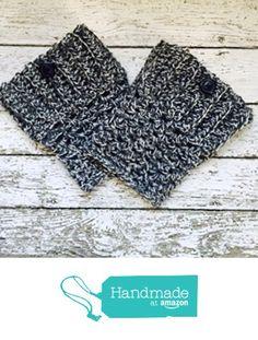 Handmade Wool Boot Cuffs Dark Gray Marl Button Chunky Leg Warmers Womens Grey Boot Socks from MoomettesMagnificents https://www.amazon.com/dp/B01MQHCPEV/ref=hnd_sw_r_pi_dp_2CDyybCK161FD #handmadeatamazon
