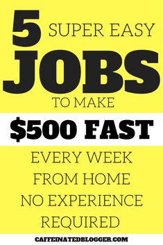 How to Make Money Fast! Did you have a surprise bill arrive in the email or an unexpected expense? Here are the top five websites that will show you how to make 500 dollars fast, working from home.