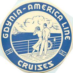 GDYNIA AMERICA Steamship LINE ~POLAND~ Luggage Label | eBay