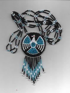 thunderbird necklacenative americanpowwows by deancouchie on Etsy, $84.95