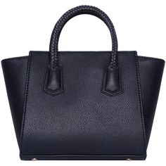 Black Zipper Tote Bag ($28) ❤ liked on Polyvore featuring bags, handbags, tote bags, purses, romwe, black, black tote, zip tote bag, black handbags and black purse