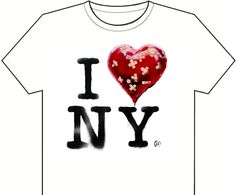Now available - the official Banksy New York residency souvenir T shirt  (you have to take the jpeg to a copy store and make it yourself)