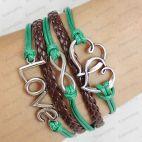 love hope bracelets -personalized bracelets brown rope barcel... | Keep.com