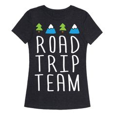 Road Trip Team - Show off your love of adventure and driving with this road trip lover's, vacation inspired, fast food shirt! Get lost with your buddies in nature!