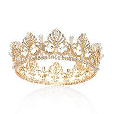 SWEETV Gold Full Round Crown Pearl Crystal Tiara for Wome... https://www.amazon.com/dp/B073RF1GHG/ref=cm_sw_r_pi_dp_x_exbYzbCMPAZXT
