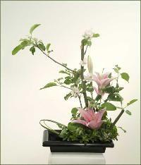 Lily ikebana
