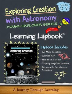 Apologia Exploring Creation with Astronomy Lapbook by A Journey Through Learning - $15 download - uses 14 folders, individual lapbooks stored in binder, includes answer guide.